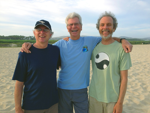 The Three Musoteers of Baja! From left to right, Tripp, Bob Magnusson, and Peter.