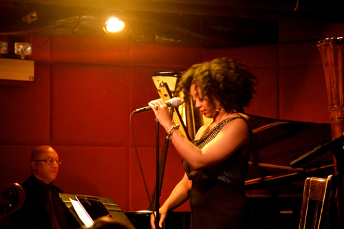 At the Jazz Standard it's Billy and Alicia OIatuja.
