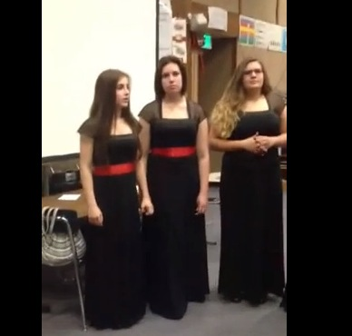 "YouTube vid of the girls singing ""Blues Connotation"""