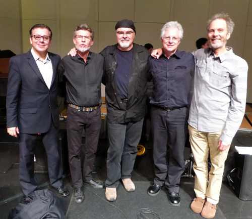 Bop Moderno group at Point Loma Nazarene University. Gilbert, Gunnar, Duncan, Tripp and Peter Photo by Barbara Wise