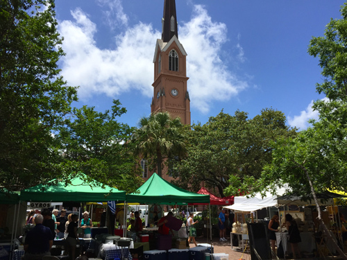 Farmer's Market in downtown Charleston.
