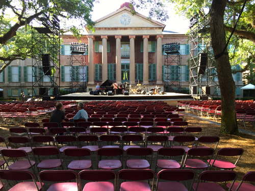 What a great setting for a concert! The whole seating area was shaded by trees.