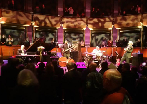 Here is the band at the Rose Room at Lincoln Center playing the opening instrument tune. That's Peter Martin on piano, Reginal Veal on bass, Terryon Gulley on drums, and me on guitar.