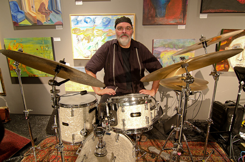 Duncan Moore and his drums. photo by Rick Sokol