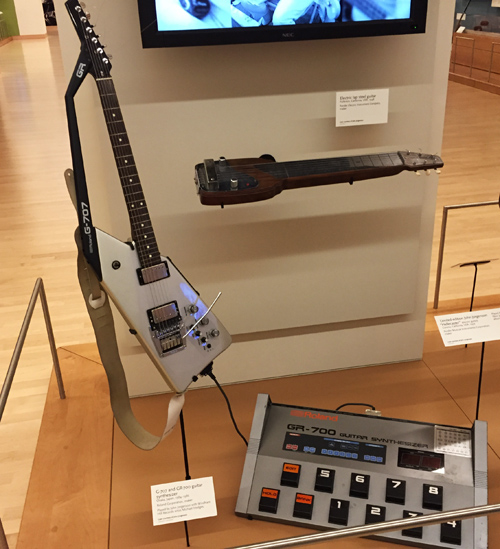 This isn't a double neck but it's one of the first synth guitars ever made and I too once owned one. It was a DOG! You could hardly survive a gig with the way it tracked.