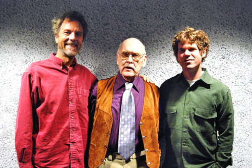 Jim came and played the Neuroscience Athenaeum series and I got to talk with him a little. That's Jim in the middle and Joey Carano is on the right. photo by Mark Keller