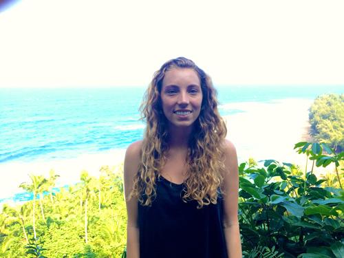 Kylie at the trail head on the Na Pali Coast hike.