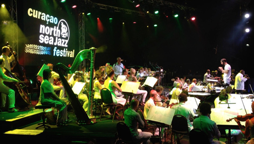 The Metropol Orchestra tearing it up at Curacao. This was on our day off so we got to take in the concert.