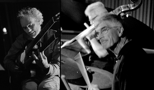 Bob Magnusson Trio with Peter, Bob, and Jim Plank. photo by Michael Oletta