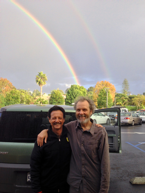 Fred and Peter with the double rainbow.
