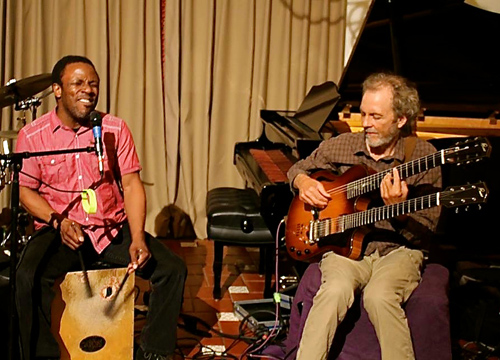 Leonard and Peter at a recent L.A. house concert gig.