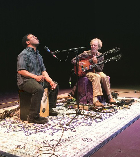 Leonard and Peter last week at Palomar College. photo by Rachael Kolb