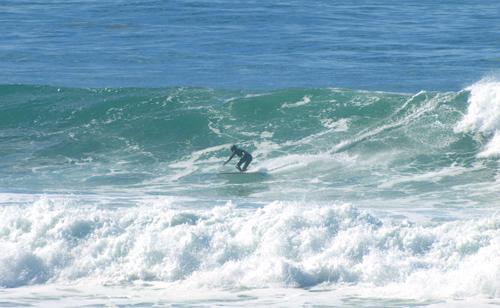 PS surfing Beacons last week.  photo by Paul Fleck