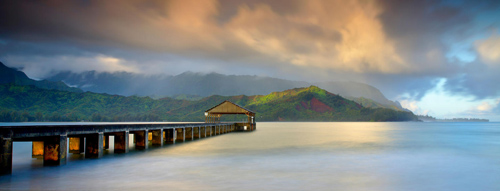The pier at Hanalei Bay.