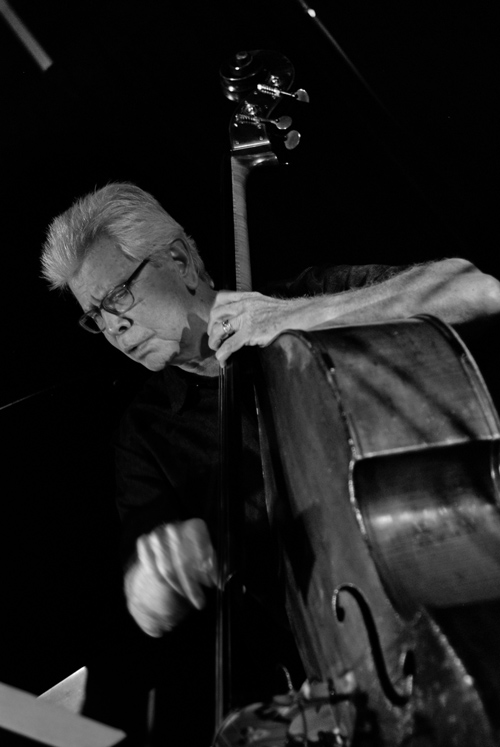 Bob Magnusson on bass. photo by Michael Oletta