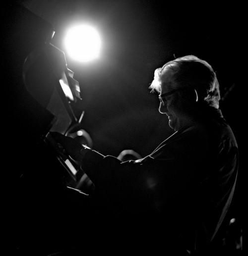 Bill Mays on piano. photo by Michael Oletta