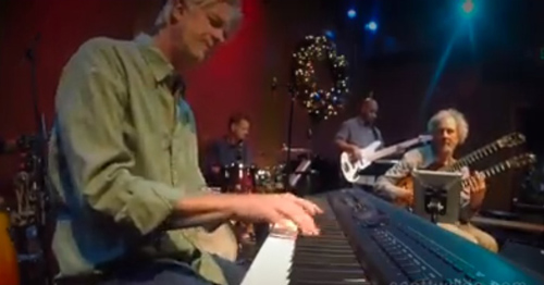 Scott Wilkie on piano along with Jeff Olson, drums, Nate Brown, bass and Peter on guitar.