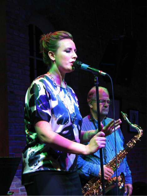 Sinne Eeg with Roger Neuman on sax. photo by Perry Murphy