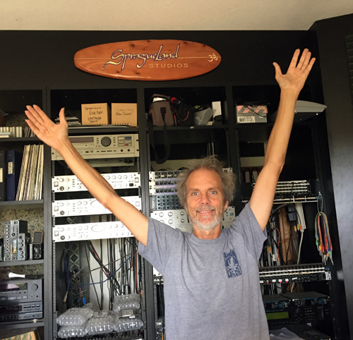 My friends Hal and Patricia gave me this cool surfboard sign as a gift in celebration of the Lifetime award. Hal made it and I can't wait to take it out in the waves. For now, it's living in the control room at SpragueLand.