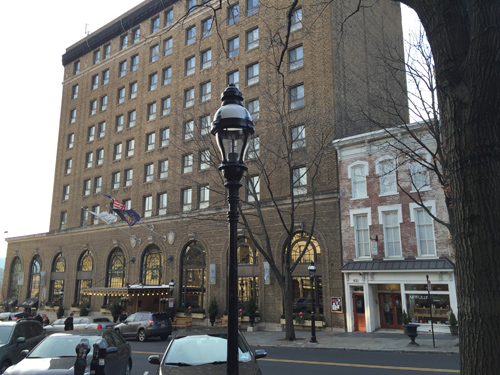 This was our hotel in Bethlehem, PA and it was a beauty!