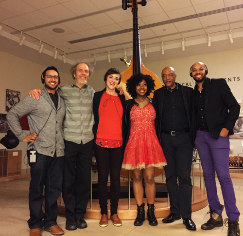 From Portland we traveled to Phoenix and played at the Musical Instrument Museum. Here's the band with (left to right) Ben Shepard, Peter, Becca Stevens, Alicia Olatuja, Billy Childs, and Donald Barrett.
