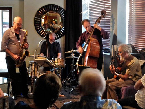 Bob Sheppard Group playing for the flutists! Bob Sheppard, left, Duncan Moore, Rob Thorsen, and Peter Sprague