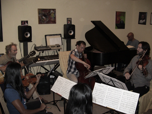 """Ironing out the details on """"Into the Light"""" with Billy Childs."""