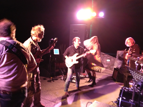 """""""Ohio"""" rock fest with Jim, Peter, Mark, Eve Selis, and Rick Nash.  photo by Sharon Whyte"""