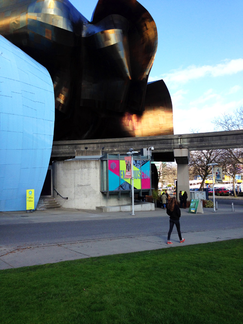 The EMP Museum in Seattle designed by Frank Gehry. We call it the Jimi Hendrix Museum.