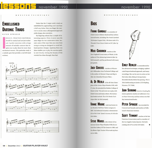 The December issue of Guitar Player Magazine.