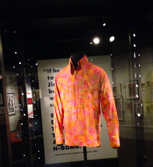 That's Jimi's paisley shirt that he wore in London. It still looks good to me and I'm currently at Macy's trying to find one. Striking out!