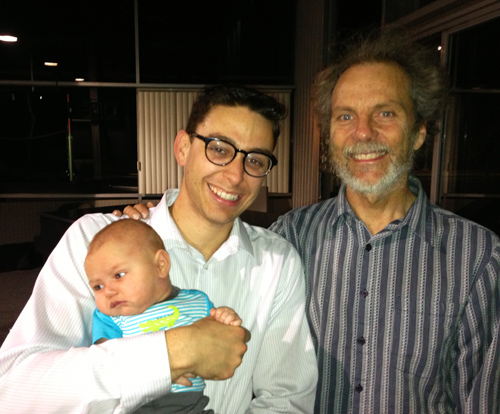 Peter with James Romeo Jr. and his little jazz baby.