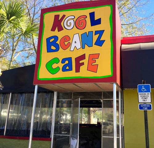 """I've been randomly using this phrase """"cool beans"""" for years and I thought I made it up. In Florida on this run the Kool Beanz Cafe was the prime spot to get good food."""