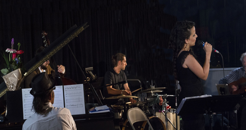 Jobim bossa nova at Dizzy's with Irving Flores, Maria Rosa, Julien Canthelm, Gilbert Castellanos, and Peter photo by Bob Snell