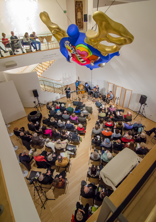 Camarada jazz at the Mingei with the cool view from the top. photo by Rick Sokol