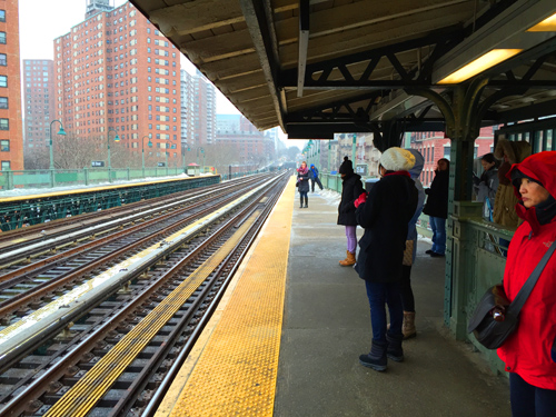 I took a trip on a train up to 125th Street to visit Rob and Raquel and their apartment is one of those off in the distance.