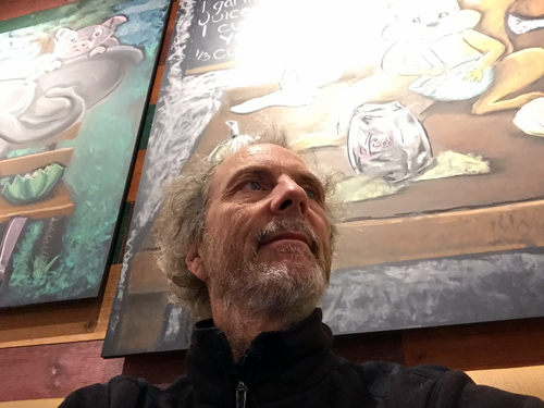 Chicago was living up to it's name with a good brisk wind and I sought refuge at a Native Foods restaurant that had good central heating. I'm wearing a coat too.