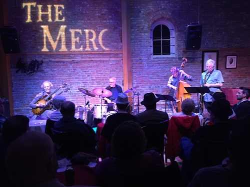 Jazz at the Merc with Peter, Duncan, Gunnar and Tripp. photo by Steve Grant