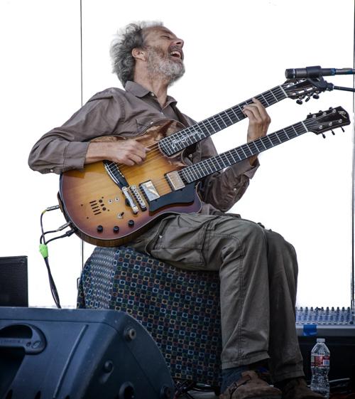 Wild man at the SDA show last week. I dig playing the guitar! photo by Rick Sokol