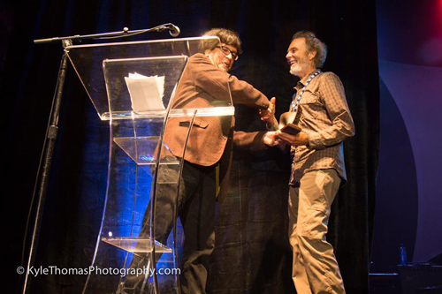 Here I am in 2015 accepting the Lifetime Achievement Award!