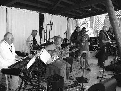 Here's the band from last year with Barnaby Finch and the gang. Jazz in the Pines!