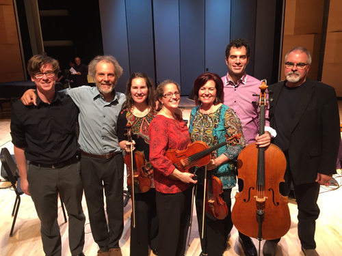 PS String Consort with Mack, Peter, Bridget, Pam, Jeanne, Lars, and Duncan.
