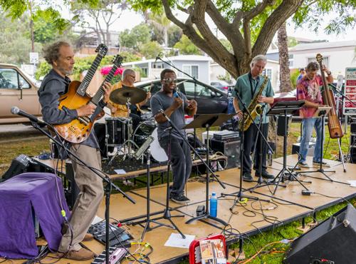 Band on the summer fun run! photo by Dan Audick