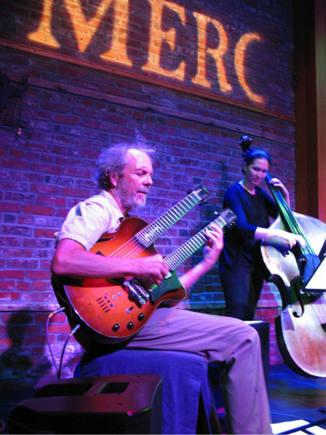 Peter and Katie Thiroux on bass. photo by Perry Murphy