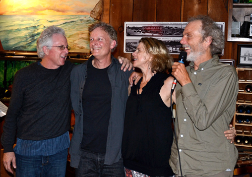 Another great night of music and friendship at the Roxy! With Tripp, John, Kevyn, and me. photo by Michael Oletta