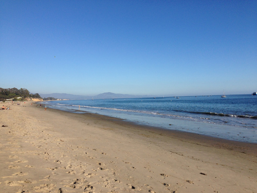 Looking south with endless blue and pristine sand. Santa Barbara magic!