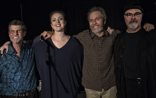 Dizzy's with Sinne Eeg. Left to right, Gunnar Biggs, Sinne, Peter Sprague and Duncan Moore.  photo by Bob Snell