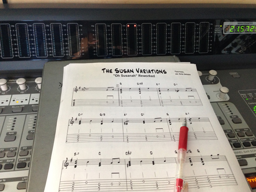 Looking at the chart and marking the hard sections with a red pen. I've read that that's supposed to make it easier to play. Hah!