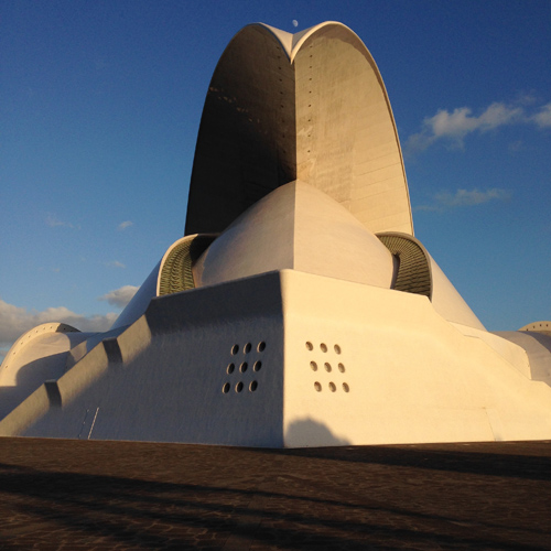 This is a performing arts building in Tenerif, Islas Canarias. It's gorgeous and it's HUGE. It's a huge wave coming right at you!