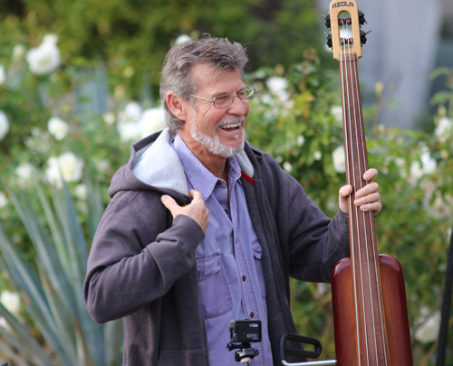 Gunnar on the stick bass. photo by Kevin Kinnear